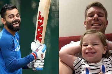 David Warner and Virat Kohli engage in funny banter over a 'cricket bat'