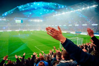 fans cheering goal champions league
