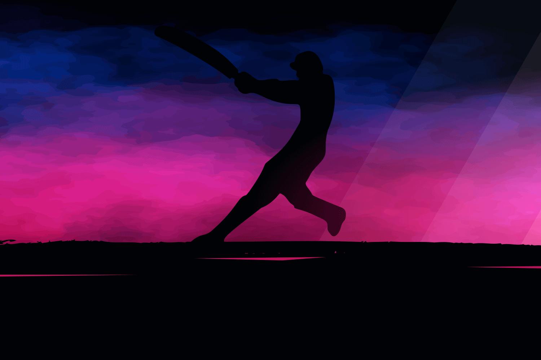 caribbean cricket player vector