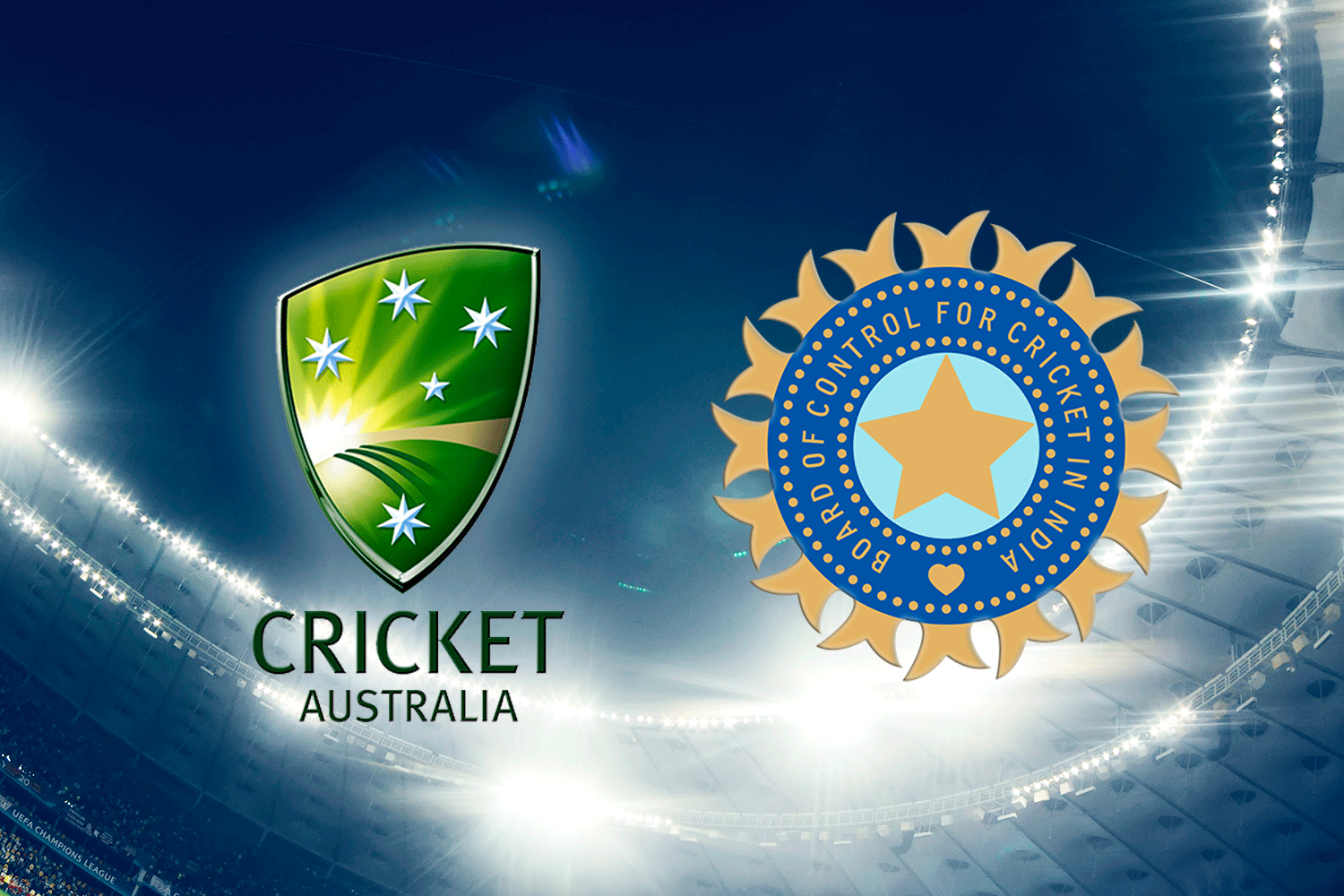 Australia and Indian Cricket Federations LogosFedera